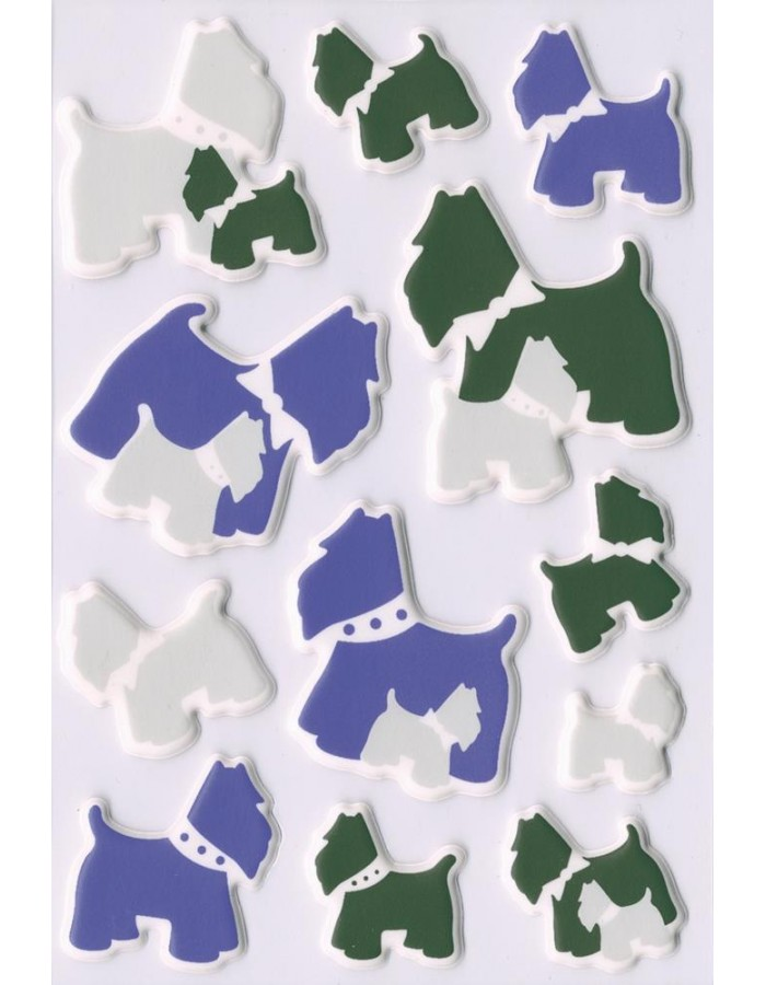 Stickers Dogs, self adhesive - MAGIC
