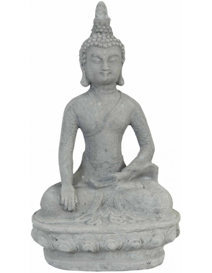 seated Buddha figure simply 19x16x33 cm