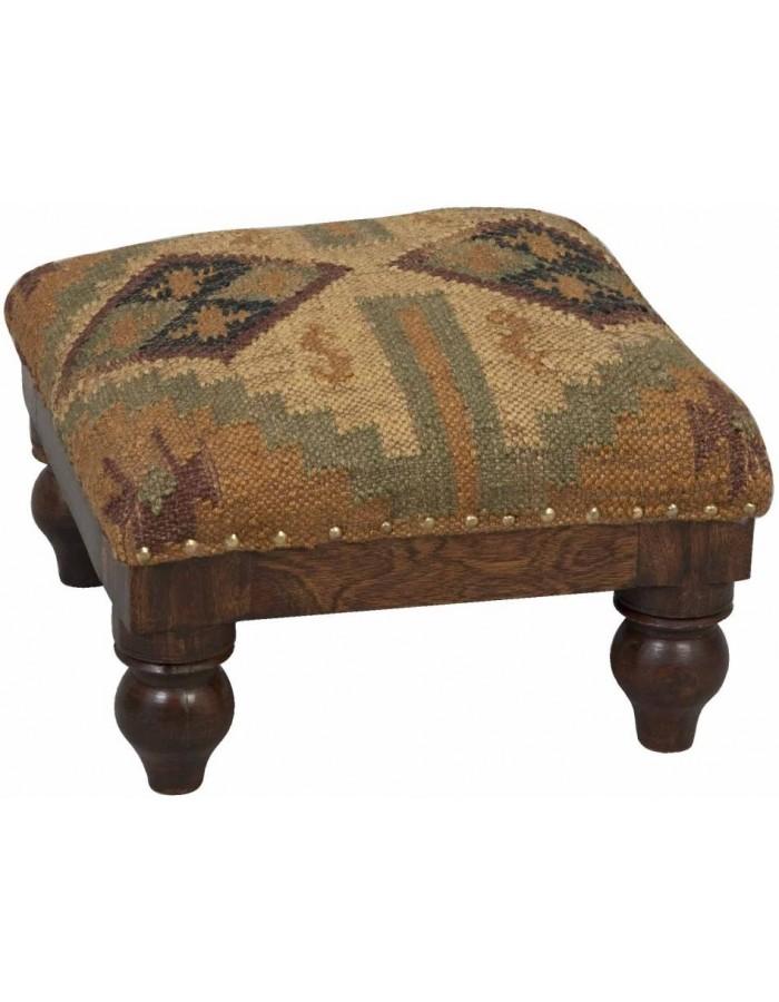 uriger hocker ethno stil 40x40x25 cm clayre eef fotoalben. Black Bedroom Furniture Sets. Home Design Ideas