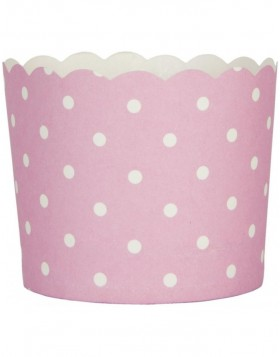 paper cups DOTS pink 7x5,5 cm