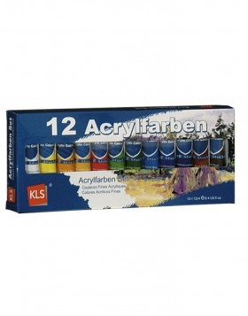 12 Tubes Acrylic paint Paint colors