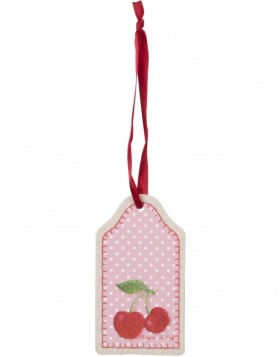 12er Set Anh�nger CHERRIES 8x4 cm