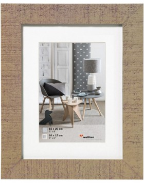 Home wooden frame 15x20 cm beige brown
