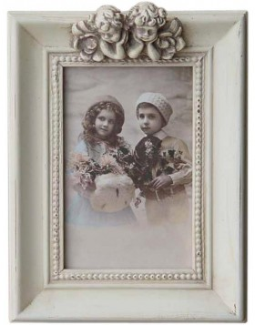 2462N Vintage frame with 2 angels 10x15 cm
