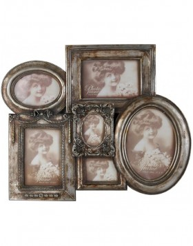 2826 antique frame gallery 36x46 cm for 6 photos
