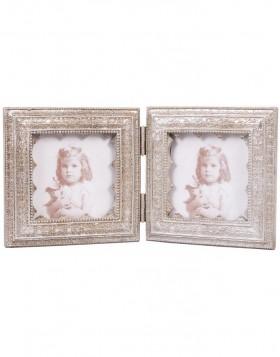 clayre eef 2941 antiker bilderrahmen quadratisch silber 8x8 cm fotoalben. Black Bedroom Furniture Sets. Home Design Ideas
