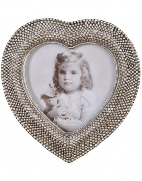 2940 heart shaped picture frame silver 8x8 cm