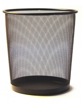 paper bin by officional black 29 cm