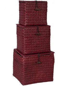 3-piece set baskets red