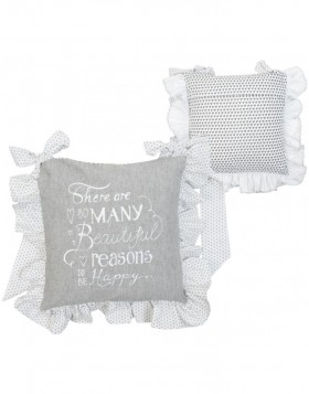 40x40 cm My Lovely Home II pillowcase grey