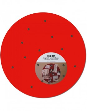 Red Big Dot round magnetic board