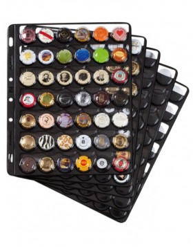 5 - Pack Compart pockets for Bottle Cap Ringbinder