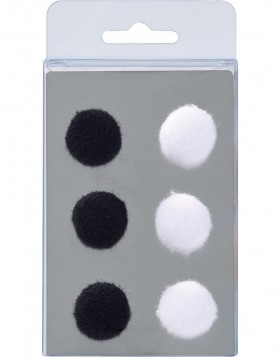 6 magnets POMPOMS 2 colours
