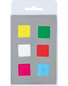 coloured magnets 6 squares