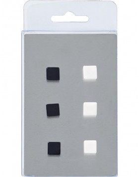 magnets 6 DICE black/white