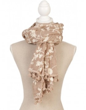 65x180 cm synthetic scarf SJ0498BGR Clayre Eef