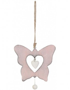 6H0760P Clayre Eef - BUTTERFLY pendant rose