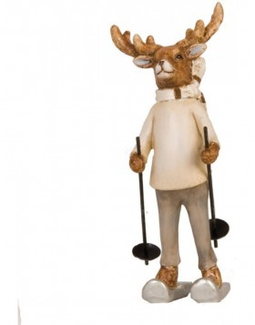 6PR0599 Clayre Eef - decoration REINDEER