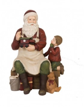 6PR0635 Clayre Eef - decoration Father Christmas
