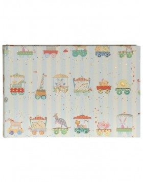 baby photo album ANIMAL TRAIN blue 22x16 cm