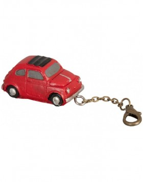 CAR 4x2 cm key chain red