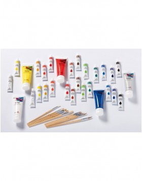 Acrylic paints, 12 assorted colors