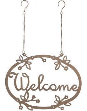 Anh�nger Welcome braun 40x56 cm