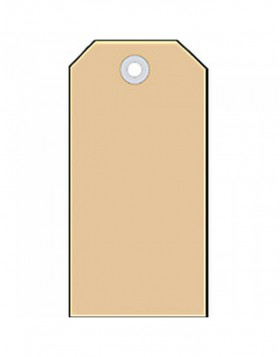 Shipping tags 48x95mm with cardboard eyelet 1000 pcs.