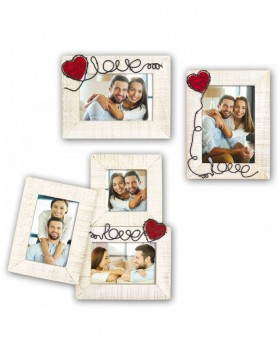 Annamaria Wooden frame 13x18 cm and tripple frame