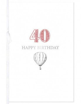 Artebene Karte 40. Birthday  Transparent  Schleife