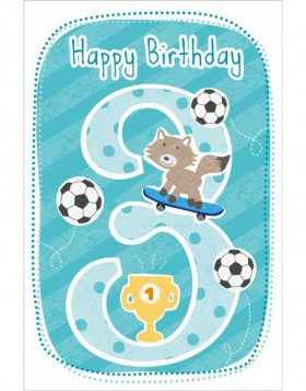 Artebene Karte Happy Birthday Kids 3 Jahre gr�n