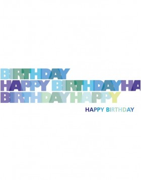 Artebene Karte Happy Birthday/blau/21x8 cm