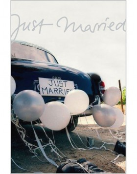 Artebene Karte Just Married Oldtimer