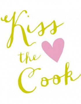Artebene Servietten Kiss the Cook Herz gr�n 33x33 cm