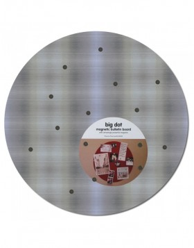 Magnetic board Big Dot 16.5 stainless steel