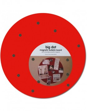 BIG DOT runde Magnettafel in rot 30 cm