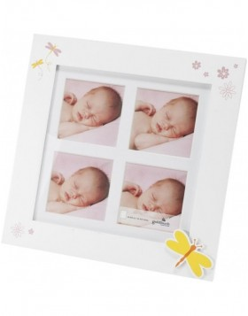 Baby photo frame 4 Photos 9x9 cm BUTTERFLY