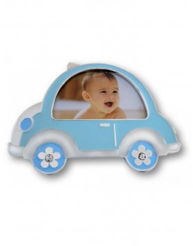 Baby photo frame BEETLE blue