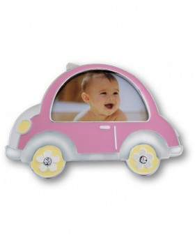 Baby photo frame pink BEETLE