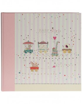 Babyalbum ANIMAL TRAIN II rosa 30x31 cm
