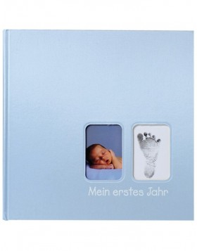 Blue baby album First Steps white sides