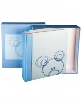 Sammy - baby photo album in blue