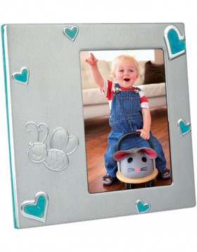 Baby frame bee blue
