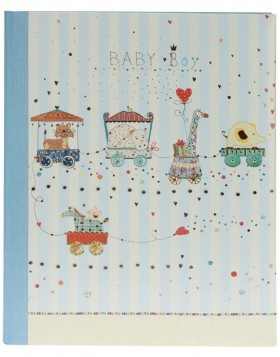 Babytagebuch ANIMAL TRAIN II blau