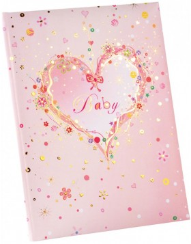 Baby Diary Pink Heart