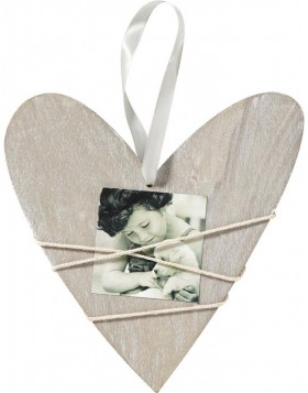 Bella Heart frame with cord gray