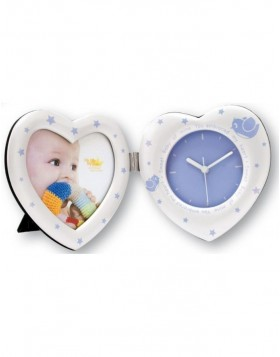 bilder uhr heart clock 10x20 cm f r m dchen. Black Bedroom Furniture Sets. Home Design Ideas