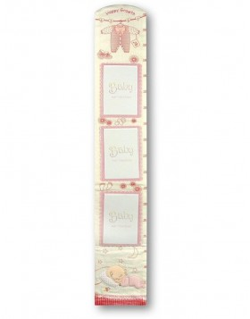 Picture frame measuring stick baby pink