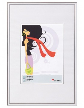 plastic frame 15x20 cm silver New Lifestyle