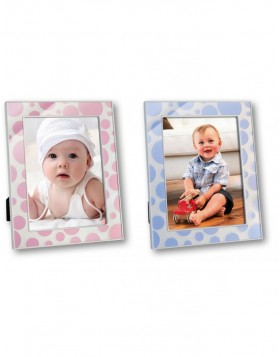 Bollicine baby blue and pink frame 10x15 cm and 13x18 cm